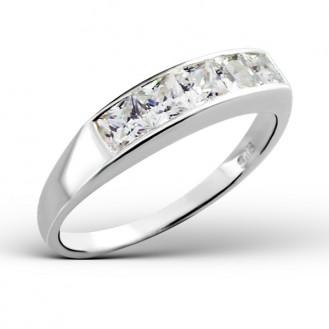 """Stříbrný prsten se zirkony """"K úspěchu"""". Ag 925/1000"""